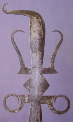 Antique African Ceremonial Axe or Glaive