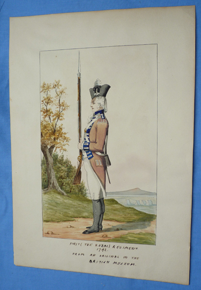 antique-british-napoleonic-military-painting-1