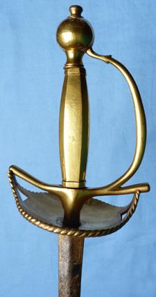 C.1800 Napoleonic Blue & Gilt Military Officer's Dress Sword