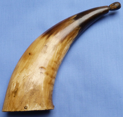 C.1780 Revolutionary War Pocket Powder Horn