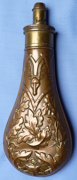 antique-powder-flask-stag-head-2