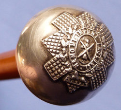 Scottish WW2 Black Watch Officer's Silver-topped Swagger Stick