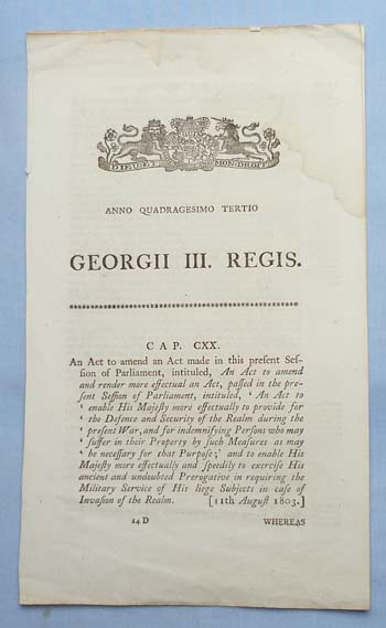 british-1803-defence-of-realm-act-1