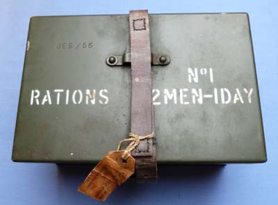 British Army Dated 1956 Metal Rations Tin