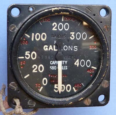 British WW2 Lancaster Heavy Bomber Fuel Gauge – 500 Gallons