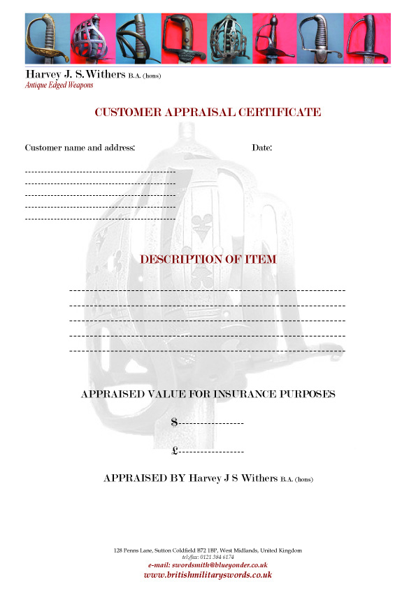 antique-sword-appraisal-certificate
