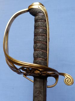 Sword of Colonel Daniel Mackinnon Coldstream Guards Waterloo Hougoumont