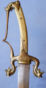 C.1800′s South East Asian Elephant-head Short Sword for English Officer
