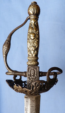 English Dated 1660 Officer's Dish-hilted Sword