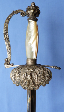 French C.1800′s Senior Officer's Blue and Gilt Smallsword