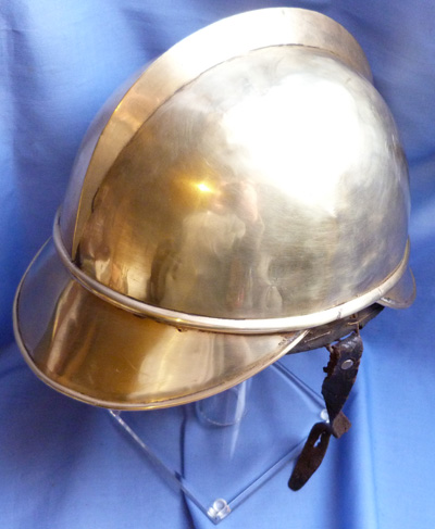 French WW1 Brass Fireman's Helmet