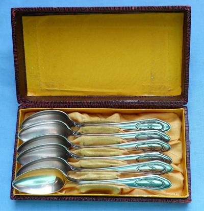 German C.WW2 Waffen SS Cased Silver Desert Spoons
