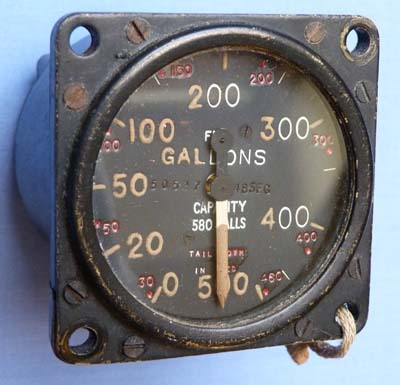 British WW2 Lancaster Bomber Fuel Gauge #2