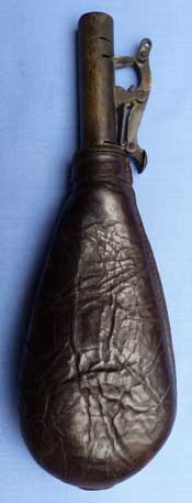 leather-19th-century-powder-shot-flask-1