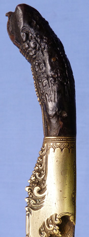 C.1800 Antique Sri-Lankan Pia Ketta Dagger and Scabbard