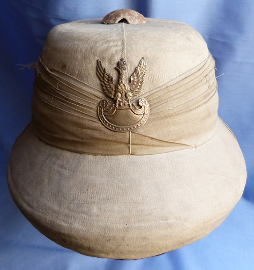 WW2 Named Polish Free Army Tropical Helmet
