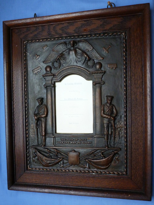 British WW1 Royal Flying Corps KIA Framed Memorial