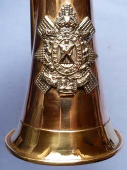 Scottish C.1900′s Black Watch Regimental Bugle