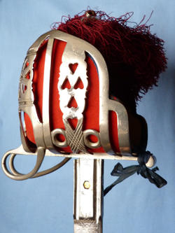 Scottish Cameron Highlanders Named Basket Hilt Sword