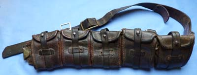 Swedish C.WW2 Leather Ammunition Bandolier