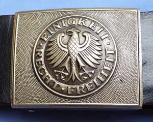 West German Army Military Belt and Buckle