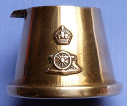 British WW1 Trench Art Royal Artillery Brass Ashtray