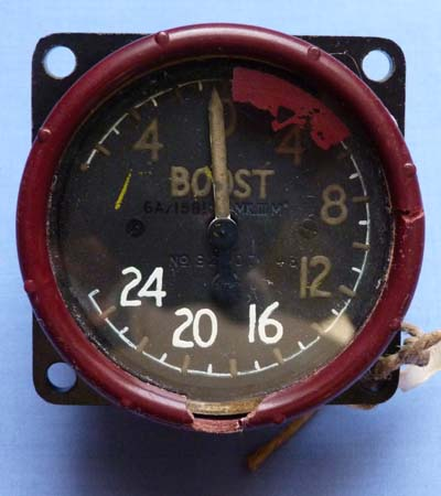 An original British WW2 Aircraft Boost Gauge