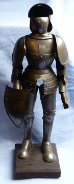 Original Late 19th Early 20th Century Miniature Suit Of Armour