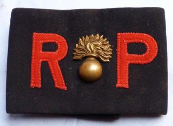 Original WW2 British Army Regimental Police Armband - Royal Fusiliers